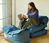 單人床榻榻米豆袋可拆洗折疊 仿皮箱懶人沙發床腳踏igo