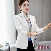 西裝外套 2019春夏新款韓版修身外套休閒時尚西服女TA546【花貓女王】