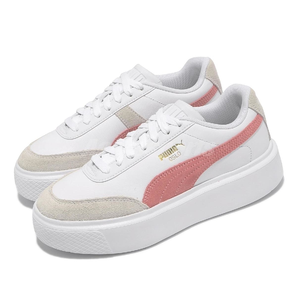 Puma 休閒鞋 Oslo Maja Archive Wns 白 粉紅 灰 厚底 增高 女鞋【ACS】 37505702
