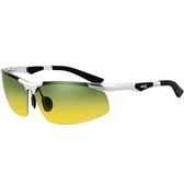 太陽眼鏡-偏光日夜視鏡時尚半框強光防護男-墨鏡-2色73nm23【巴黎精品】