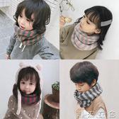 兒童圍脖冬季韓版簡約保暖男童女寶寶針織脖套時尚柔軟條紋圍巾潮  潮流衣舍