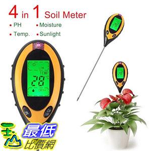 [8玉山最低比價網] 四合一土壤測試儀 多功能土壤酸鹼度 PH計濕度計光 4 in1 Soil PH Moisture