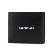 【BALENCIAGA】經典LOGO牛皮8卡對開短夾(黑) 594549 1IZ43 1090