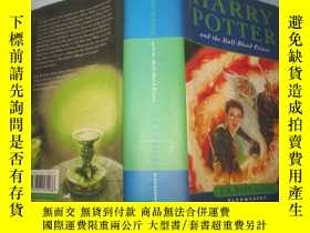 二手書博民逛書店Harry罕見Potter and the Half Blood Prince 【英文原版 硬精裝帶書衣 《 哈利