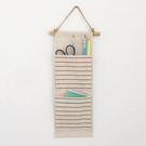 日系棉麻收納掛袋 牆壁吊掛式雜物收納袋 zakka雜貨【SV5869】快樂生活網
