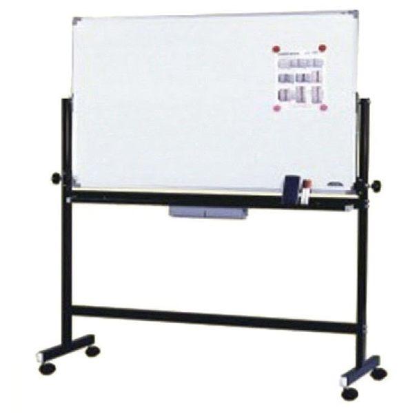【環保傢俱】烤漆雙面磁性白板架(附白板)125-12(DIY-自組)
