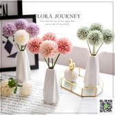ins北歐小清新假花仿真花客廳擺設花瓶裝飾品餐桌塑料絹花藝擺件 玫瑰女孩