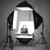 led小型攝影棚套裝手機拍照燈柔光箱拍攝道具器材人像補光燈新年提前熱賣