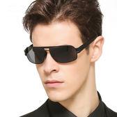 Posma SGC-054-GD 男用方形金屬框太陽眼鏡