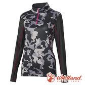 【wildland 荒野】女 彈性抗UV迷彩長袖功能衣『深灰』0A61627 排汗 抗紫外線 印花 排汗 速乾