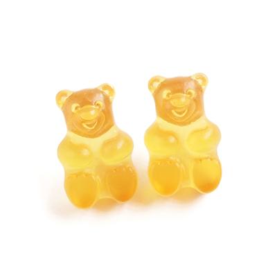 〔APM飾品〕日本gargle 美妙滋味熊熊軟糖耳環 (含耳夾式) (抗過敏) (柳橙口味) (萬聖節限定色)