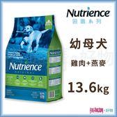 Nutrience紐崔斯『 田園糧 幼母犬配方(雞肉)』13.6kg【搭嘴購】