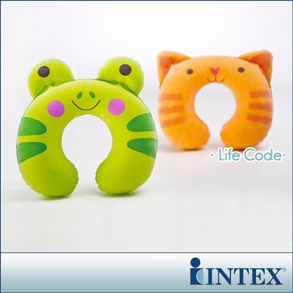 【INTEX】充氣護頸枕-動物造型隨機出貨15040050(68678)