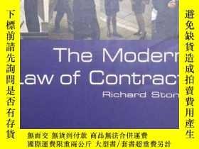 二手書博民逛書店【英文原版】《英國現代合同法》the罕見Modern Law of Contract by Richard Sto