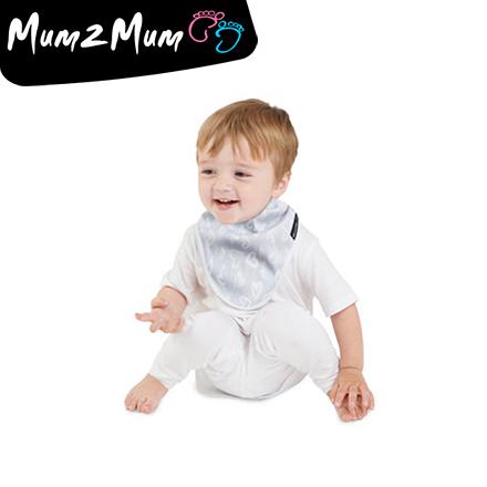 Mum 2 Mum 雙面竹纖維棉機能口水巾圍兜-愛心/點點【佳兒園婦幼館】