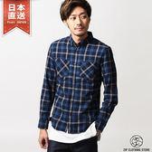 法蘭絨格紋襯衫 日本空運直送 S-M