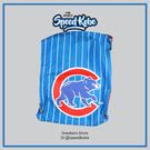 創信 MLB 束口袋 背袋 鞋袋 輕便 小熊 水藍 條紋底 5661401-003【SP】