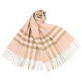 BURBERRY 經典格紋喀什米爾羊毛圍巾(胭脂紅)089540-4
