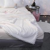 仔普女神少女心仿兔兔絨毛毯雙層加厚羊羔絨毯子珊瑚絨午休小毯子