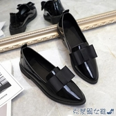 娃娃鞋 唐晶同款英倫風平底單鞋樂福鞋漆皮上班黑色工作鞋職業小皮鞋女秋 快速出貨