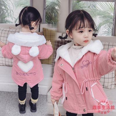 女童棉服 女童外套秋冬加絨加厚2020新款洋氣派克服兒童棉衣女寶寶冬裝棉服【快速出貨】