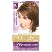 巴黎萊雅優媚霜三重護髮雙管染髮霜#8G炫亮金棕(148g)