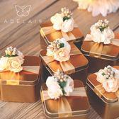 6個裝 喜糖盒結婚禮盒婚禮糖盒鐵盒糖果盒【南風小舖】