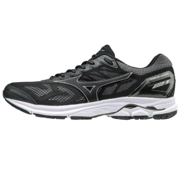 MIZUNO WAVE RIDER 21 男鞋 慢跑 馬拉松 輕量 透氣 避震 黑 【運動世界】 J1GC180309