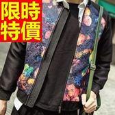 棒球外套男夾克-棉質保暖簡單精緻街頭日系典型休閒1色59h69[巴黎精品]