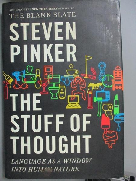 【書寶二手書T8/勵志_JJJ】The Stuff of Thought_原價1116_Steven Pinker