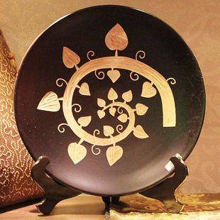 工藝品 木雕工藝品 擺件 家裝飾品 菩提葉裝飾盤