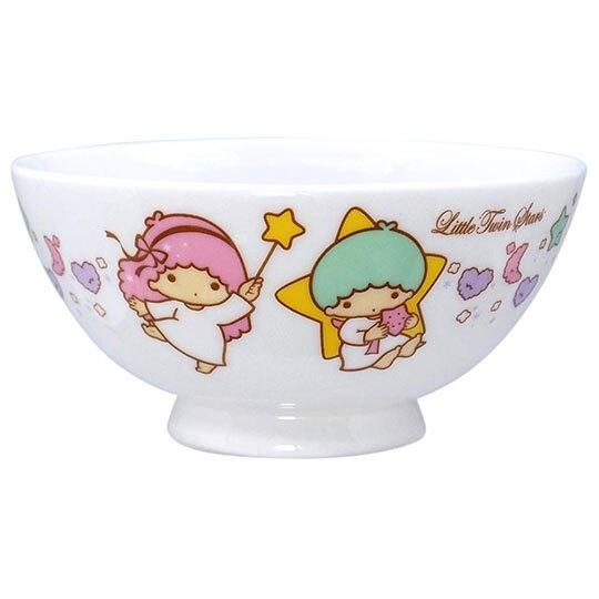 〔小禮堂〕雙子星 日製陶瓷碗《粉綠.星星手杖》飯碗.湯碗.金正陶器 4964412-30118