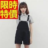 吊帶褲-熱賣時尚簡單牛仔女短褲56i45【巴黎精品】