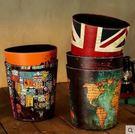 創意大號垃圾桶軟裝家用復古無蓋垃圾筒酒吧客廳裝潢擺件收納紙簍