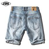 春夏季牛仔短褲 男彈力五分褲寬鬆大碼 5分褲中褲薄款 降價兩天