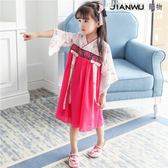 女童漢服夏復古童裝寶寶中國風唐裝