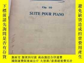二手書博民逛書店鋼琴樂譜罕見Op.10 SUITE POUR PIANOY234
