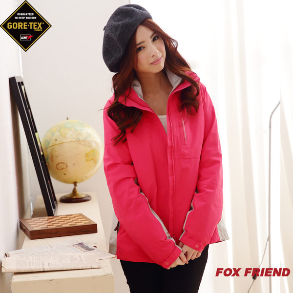 【FOX FRIEND】GORE-TEX 防水透氣 + 超輕羽絨 女款 兩件式外套 1102