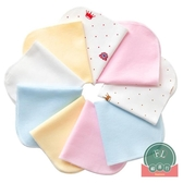 12條棉 嬰兒口水巾吸水洗臉毛巾柔軟小方巾寶寶【聚可爱】