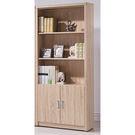 【森可家居】安迪橡木紋2.6尺下門開放書櫃 8SB231-4 收納書櫥 木紋質感 無印北歐風 MIT台灣製造