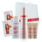 CLARINS 克蘭詩V型精萃+緊緻面膜+卸妝乳贈體驗組及品牌提袋組