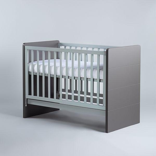 【贈純棉床包1入】Moji Dreamy 成長型原木嬰兒床(含床墊)-尊爵灰