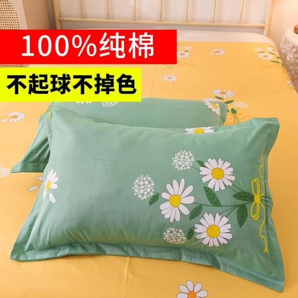 枕套 100%純棉枕套一對裝全棉枕套單雙人枕頭套純棉枕皮枕芯套大號【快速出貨】