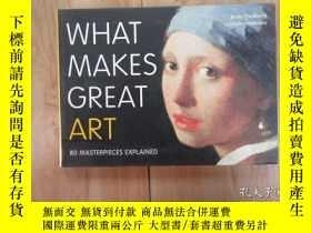 二手書博民逛書店英文書;罕見WHAT MAKES GREAT ART 共223頁