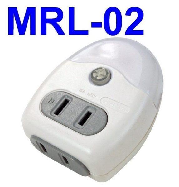 【KINYO】黃光LED小夜燈+分接式插座(MRL-02)