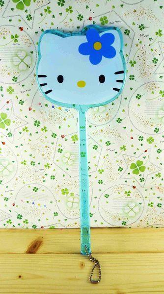 【震撼精品百貨】Hello Kitty 凱蒂貓-手拿鏡-藍小花(L)