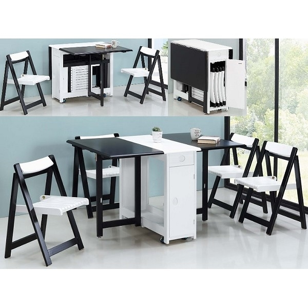餐桌 FB-815-2 多功能折疊餐桌椅組 (不含椅子) 【大眾家居舘】