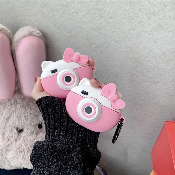 Airpods Pro 專用 台灣發貨 [ Kitty相機 ] 藍芽耳機保護套 蘋果無線耳機保護