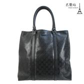 【巴黎站二手名牌專賣店】*現貨*GUCCI 真品*223668 經典雙G 防水材質旅行袋/手提包
