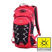 【SAMSTRONG】健行包 15L『玫紅/深玫紅』露營.戶外.旅遊.多隔間.登山背包.後背包.肩背包 B0193